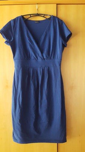 Chillytime Shortsleeve Dress blue cotton