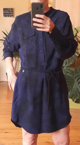 G-Star Mini Dress blue-dark blue cotton