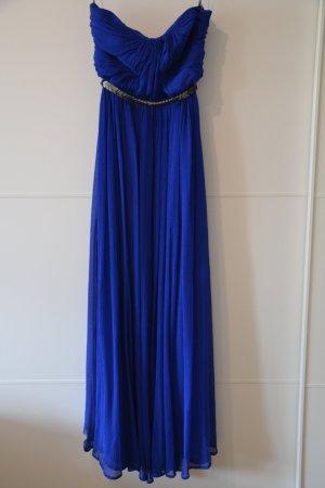 blaues langes Ballkleid
