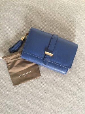 Le Tanneur Portefeuille bleu acier-bleu cuir
