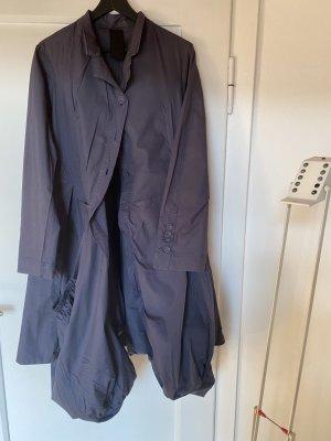 Rundholz Coat Dress blue violet-slate-gray cotton