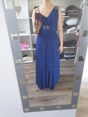 blaues Maxikleid