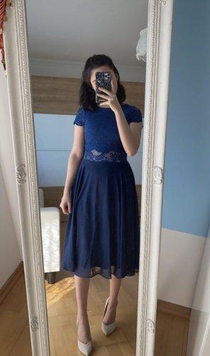 Asos Robe mi-longue bleu foncé