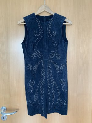 Zara Leather Dress dark blue