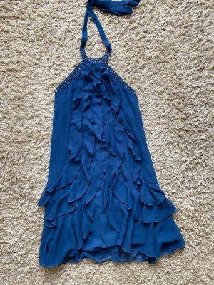 Vestido con flecos azul