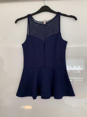 ambiance apparel Top met spaghettibandjes donkerblauw