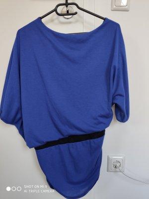 Camicia monospalla nero-blu