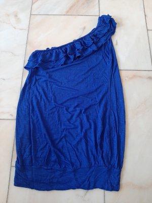 Amisu Haut avec une épaule dénudée bleu