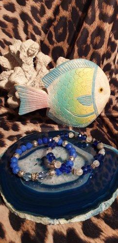 Blaues Perlenarmband Set