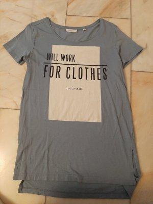 Blaues Printshirt