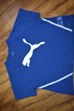 Puma Sportshirt blauw-wit