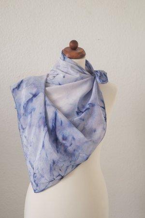 Handarbeit Silk Cloth blue-neon blue silk