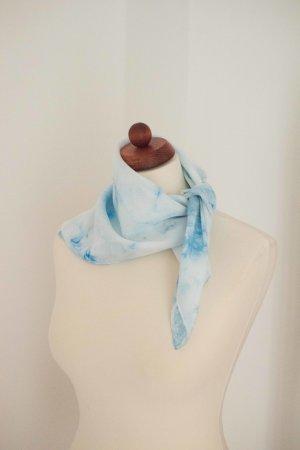 Handarbeit Silk Cloth azure-steel blue silk