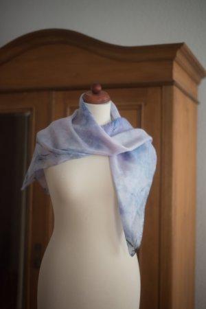 Handarbeit Zijden doek azuur-blauw-paars Zijde