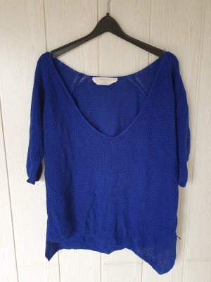 Zara Gebreid shirt blauw