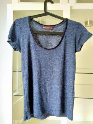 Blaues Shirt aus Leinen, Comptoir des Cotonniers