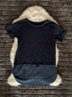 Camicia lunga blu scuro-blu