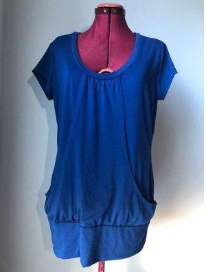 bpc bonprix collection Długa koszulka niebieski Poliester