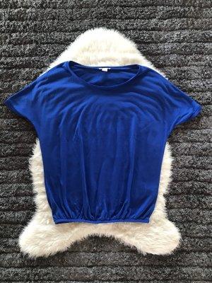 Blaues Shirt mit Gummi Zug