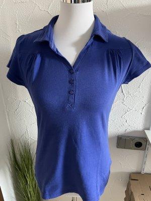 blaues Shirt mit Kragen von Yessica - Gr. M