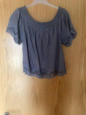 Only Camisa tipo Carmen azul aciano