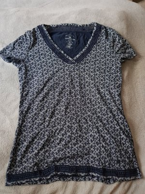 Blaues Shirt mit Muster von Tom Tailor