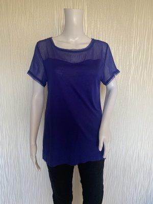 Blaues Shirt mit Rücken Reißverschluss von H&M Gr. M