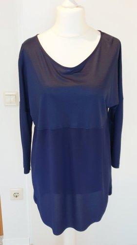 blaues Shirt mit Seide von St. Emile