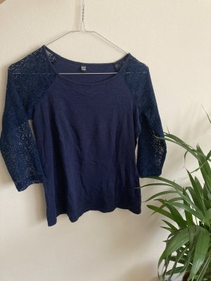 Pimkie Mesh Shirt dark blue