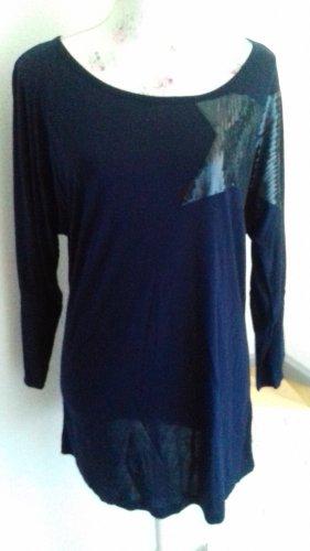Blaues Shirt mit Stern von ALBA MODA Gr. 40 NEU