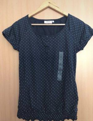Blaues Shirt mit weißen Punkten