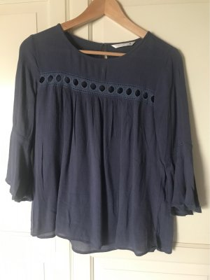 Blaues Shirt  Only mit Lochmuster