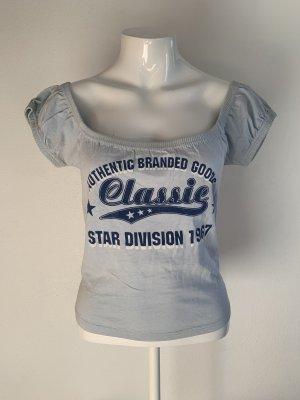 Blaues Shirt von Topshop Gr. 38