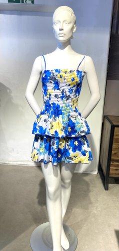 Blaues  Sommerkleid mit Volants