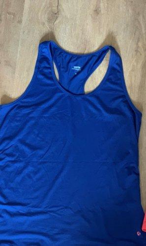 Top deportivo sin mangas azul