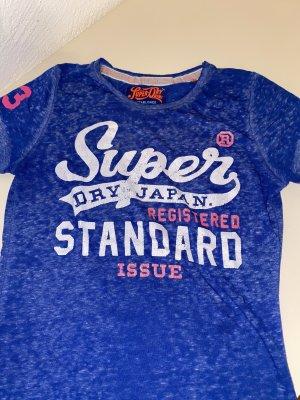 Blaues Superdry Tshirt