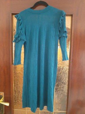 Blaues Sweatkleid
