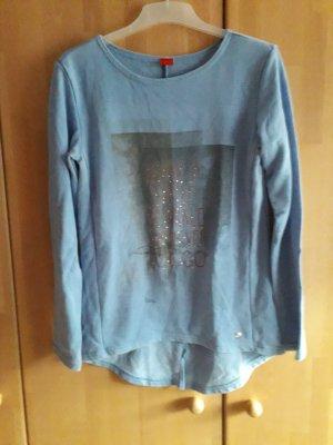 Blaues Sweatshirt mit Details