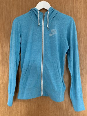 Nike Koszulka z kapturem biały-jasnoniebieski