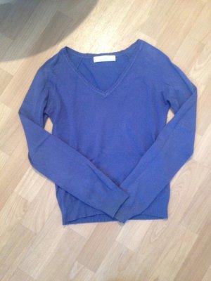 blaues Sweatshirt sweater Cardigan Zara