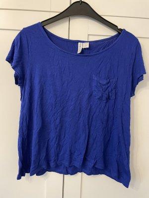 Blaues T-Shirt H&M Gr. S