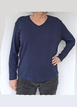 blaues T-Shirt mit langen Armen von ZAB, Größe 48