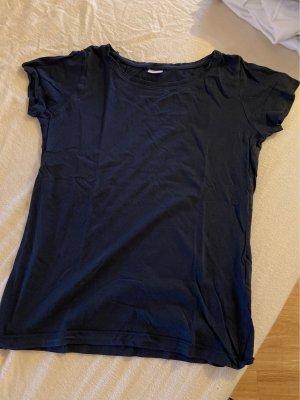 Blaues T-Shirt mit Rundausschnitt