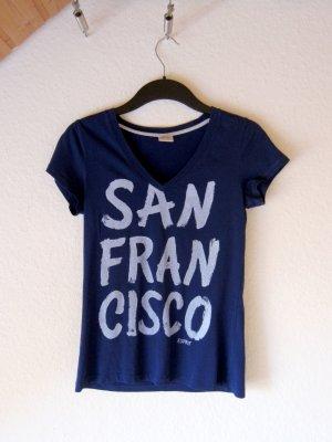 "Blaues T-Shirt mit ""San Francisco"" Print"
