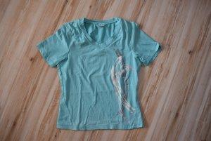 T-shirt de sport multicolore polyester