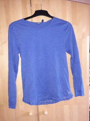 Blaues Tom Tailor Shirt mit Spitze