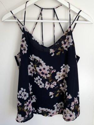 Blaues Top mit Blumenmuster von Vero Moda