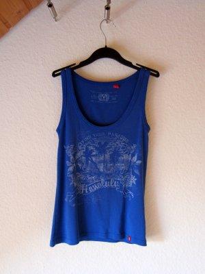 Edc Esprit Camiseta sin mangas azul acero Algodón