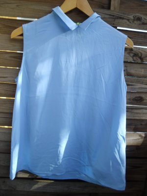 A Line Top steel blue-azure polyester