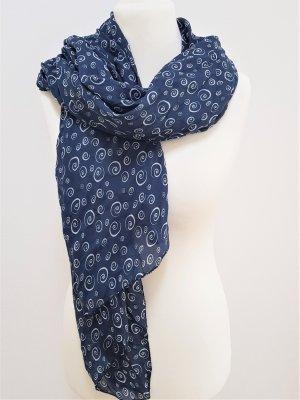 Silk Scarf dark blue-blue